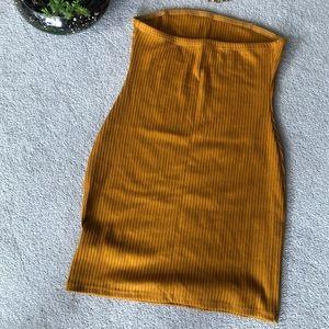 Urban Outfitters Dresses - Mustard Tube Mini Dress